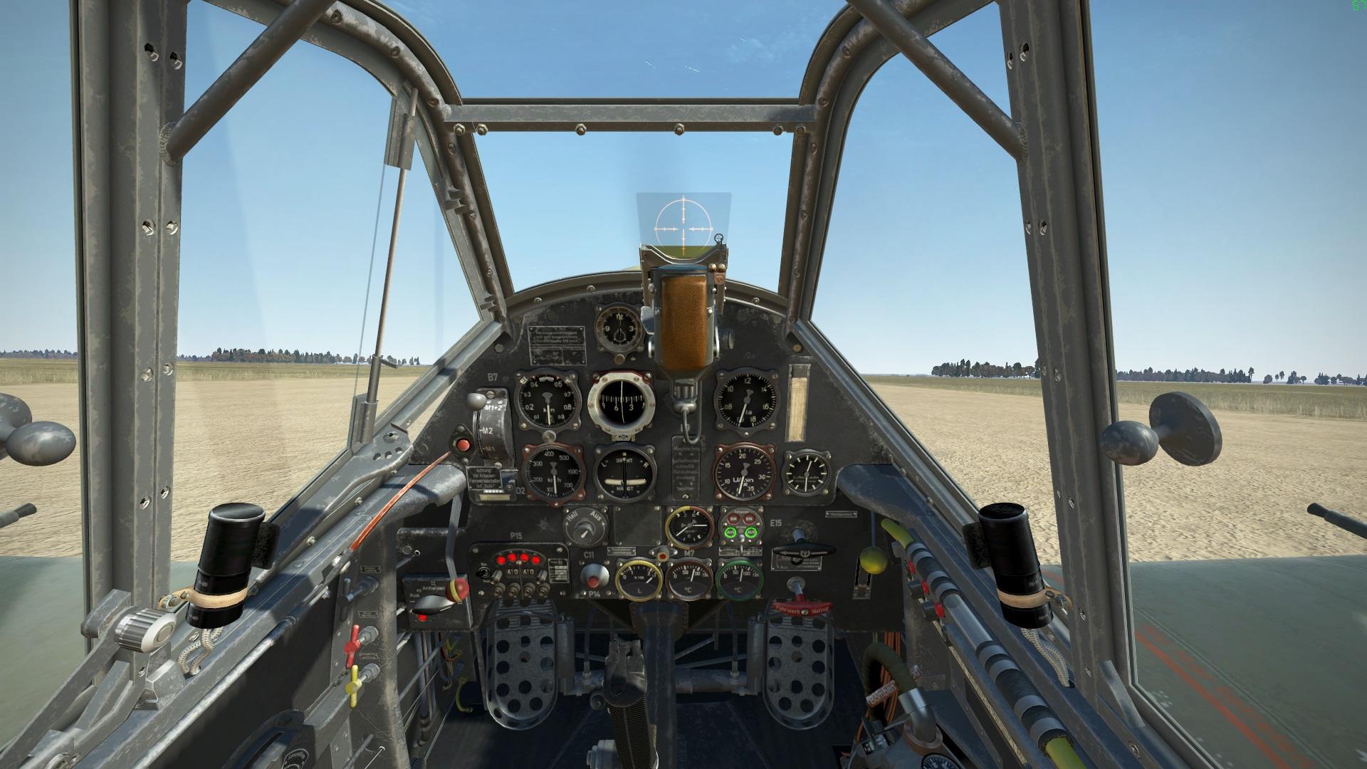 Bf 109 E-7 Cockpit, Bild von Kaltkori, Gemeinfrei